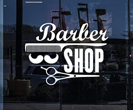 Amazon.com: Window Sign Vinyl Decal Wall Stickers Barber ...