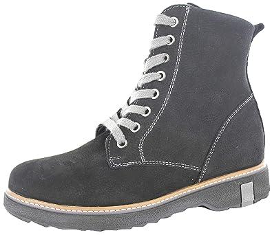 best sneakers cbe09 36748 Waldläufer Hitomi Damen Leder Leder Stiefel schwarz, Weite H ...