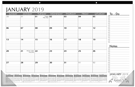 picture regarding Calendar Notes identified as Table Calendar 2019 with Dominated Blocks and Notes, 11\