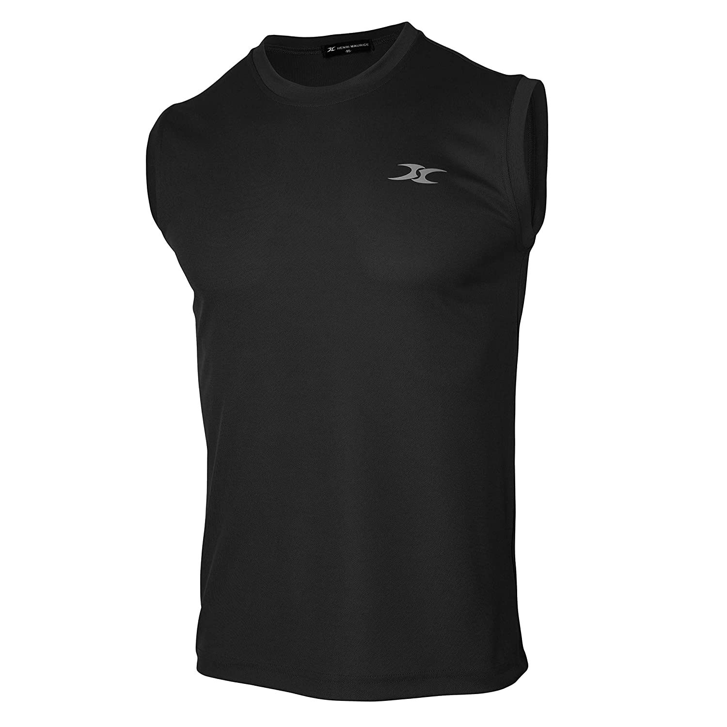 04865d330346a cm Men's Dry Fit Workout Running Athletic Sleeveless Shirts