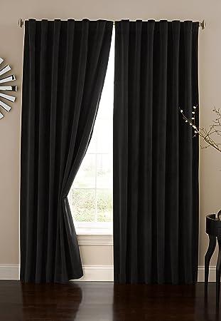 Curtains Ideas 86 inch curtain panels : Amazon.com: Absolute Zero Velvet Blackout Home Theater Curtain ...