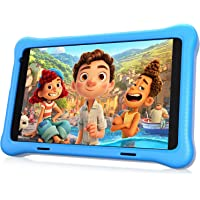 """HAPPYBE 8 inch Kids Tablet, 8"""" Display, 1080p Full HD, Quad Core Android 10, 32GB, Parental Control, Kidoz Installed…"""