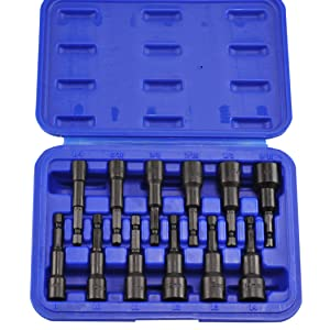 """Neiko 10250A Magnetic Hex Nut Driver Master Kit, Cr-V Steel 