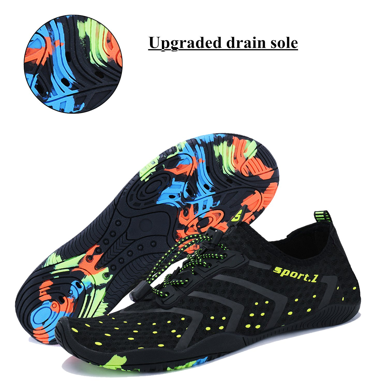 WXDZ Athletic Aqua Sock Water Shoes for Water Sport Beach Pool Boat Surfing Diving by WXDZ (Image #5)