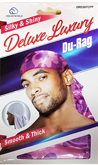 Camouflauge Black NEW!!!!!!!!! Smooth /& Thick Shiny /& Silky Deluxe Du Rag