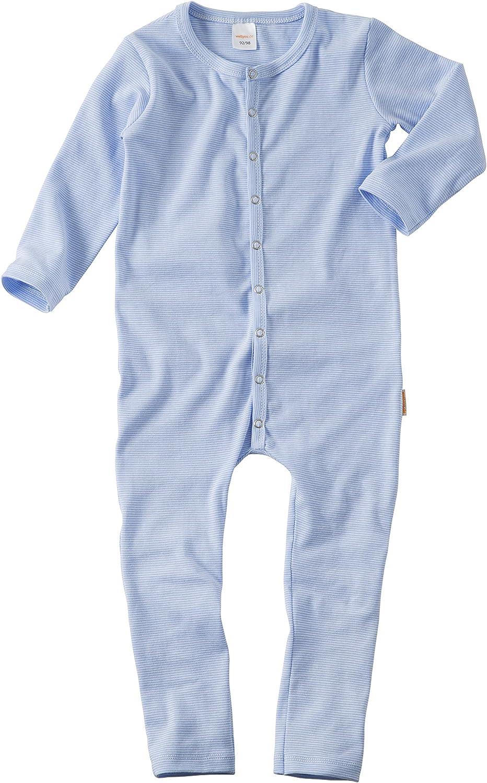 WELLYOU Pijamas, Pijamas para niños y niñas, una Pieza de Manga Larga, niños pequeños, Rayas Azul Celeste, Rayas, Finas 100% algodón Tallas 56-134: Amazon.es: Ropa y accesorios