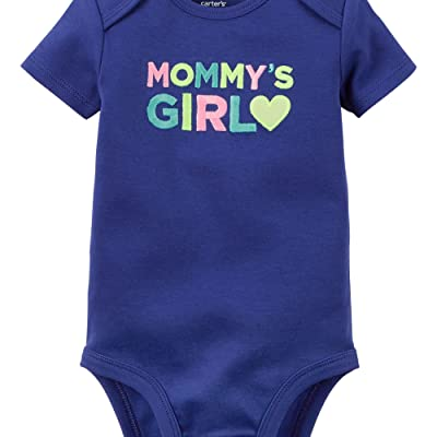 Carters Baby Clothing Outfit Girls Mommy's Girl Bodysuit Navy NB