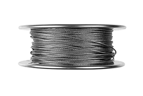 """1//16/"""" Galvanized Aircraft Cable Steel Wire Rope 7x7 5000 Feet"""