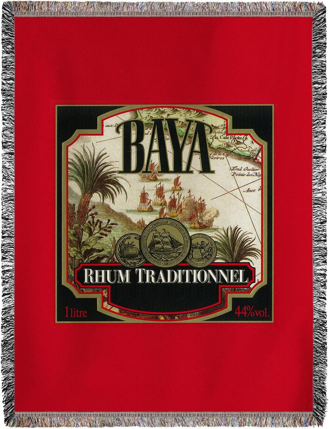 Rhum traditionnel Baya marca etiqueta de Ron (60 x 80 manta ...
