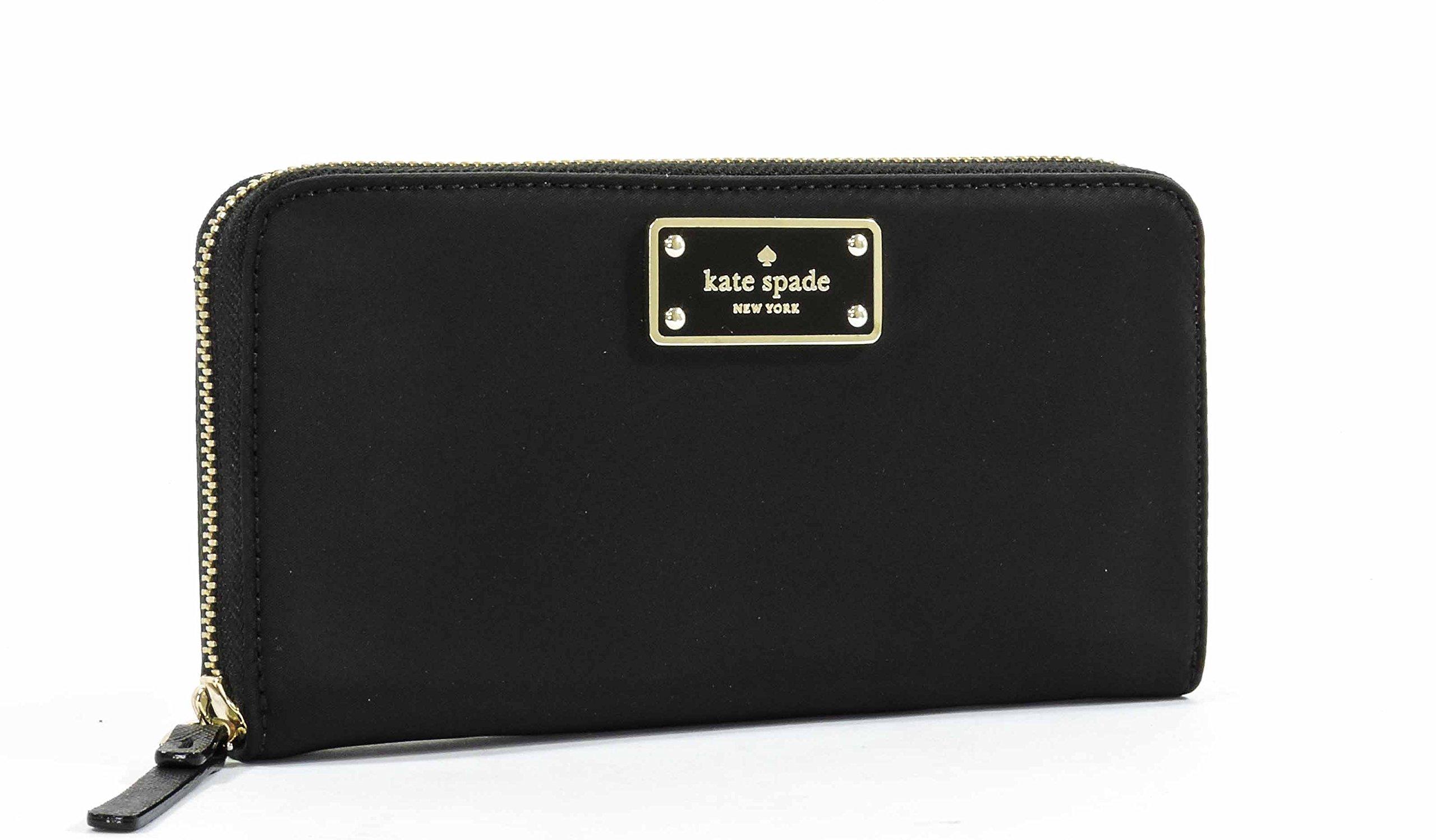 Kate Spade Blake Avenue Neda Polyester Zip Around Wallet (Black)