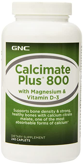 GNC Calcimate Plus 800 with Magnesium Vitamin D-3