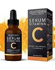 Serum Vitamina C + Ácido Hialurónico + Vitamina E- Serum Facial-95% Ingredientes Naturales- Aclara, Revitaliza, Restablece, Hidrata y Tonifica la Piel-Ideal Para Todo Tipo de Piel-30 ml