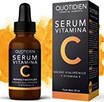 Serum Vitamina C + Ácido Hialurónico + Vitamina E- Serum Facial -95% Ingredientes Naturales- Aclara, Revitaliza,...