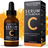 Serum Vitamina C + Ácido Hialurónico + Vitamina E- Serum Facial -95% Ingredientes Naturales- Aclara, Revitaliza…