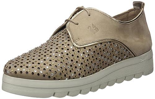 24 HORAS 23574, Zapatos de Cordones Oxford para Mujer, Beige (Taupe 10), 37 EU: Amazon.es: Zapatos y complementos