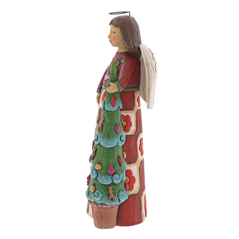 9.25 Figurine Multicolor Enesco Department 56 Jim Shore Folklore Angel with Tree