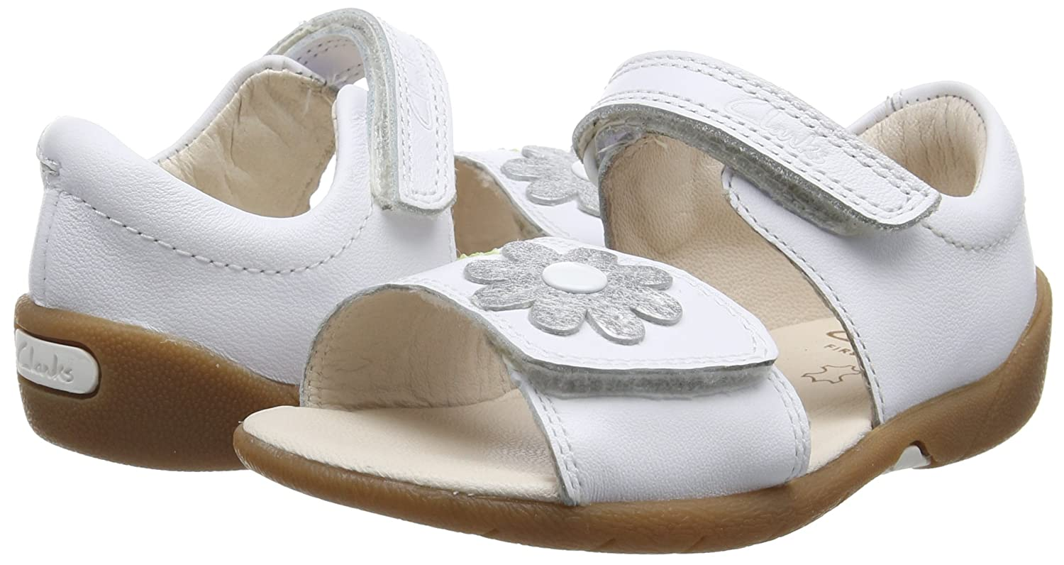 Unisex Babies/' First Shoes Clarks Softly Eve FST Sneakers