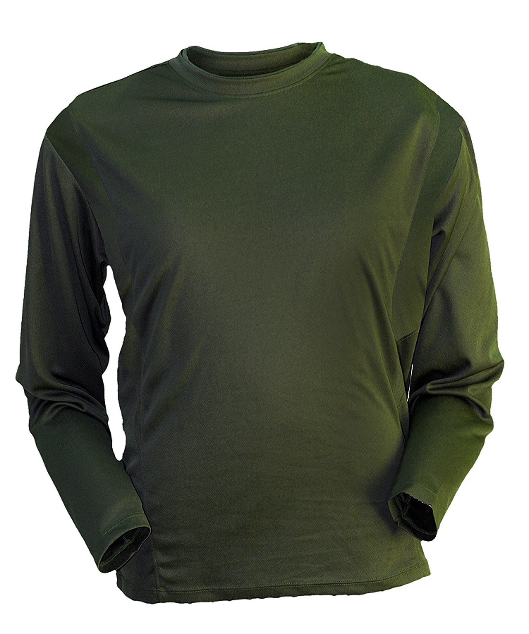 Gamehide ElimiTick Long Sleeve Tech Shirt Loden Green, Size-XL by Gamehide