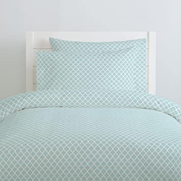 Organic 100/% Cotton Duvet Cover Carousel Designs Seafoam Seaside Stripe Duvet Cover Queen//Full Size Made in The USA