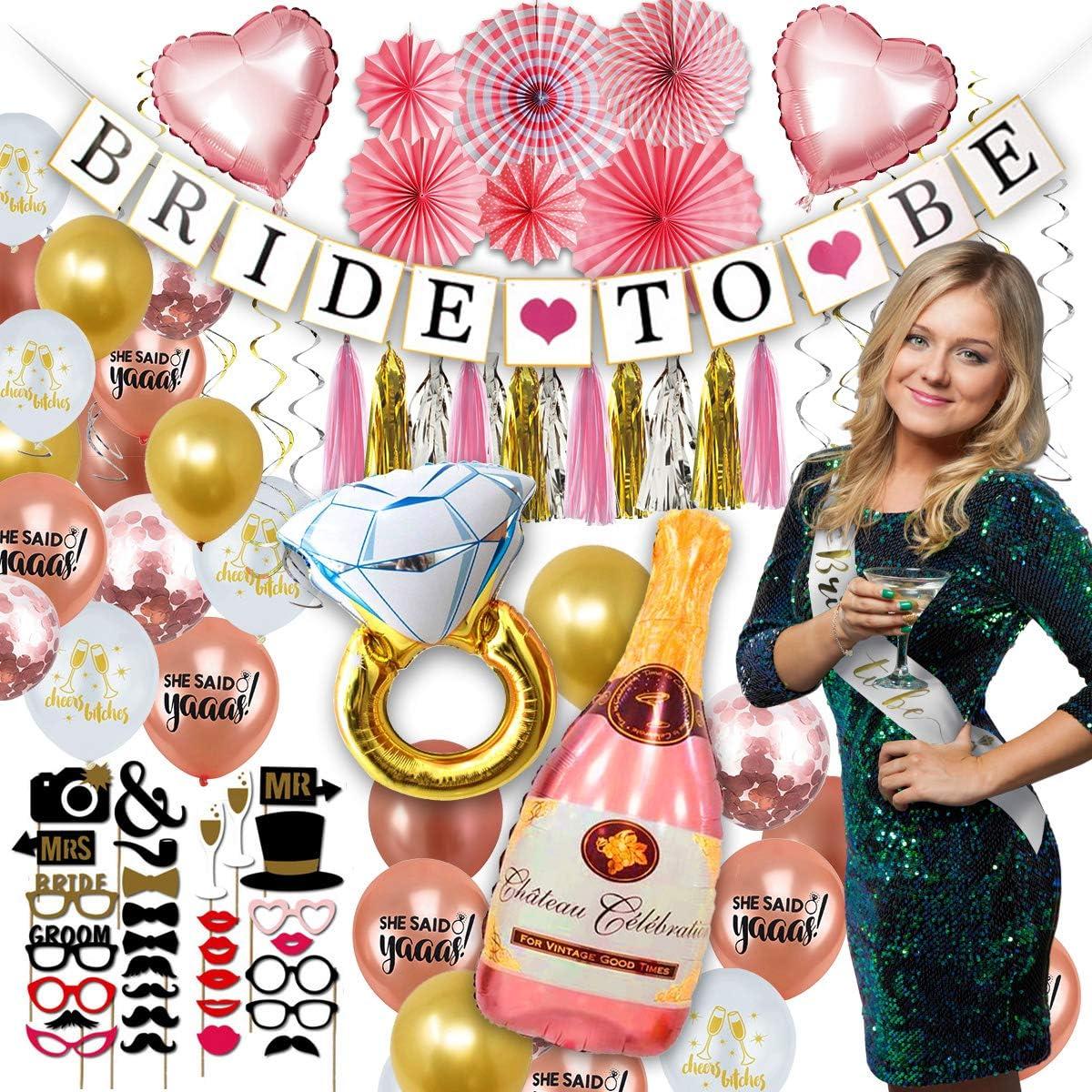 Foil Wedding Dress Balloon Celebration Bachelorette Party Quirky Decoration Hen Party Balloon