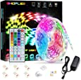 SHOPLED LED Strips Lights 5m RGB Light Strip Kit, 5050 SMD Flexible Color Changing LED Tape Lights with IR Remote Control, RGB LED Light Strips for Bedroom, TV, Party