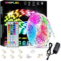 SHOPLED LED Strips Lights 5m RGB Light Strip Kit, 5050 SMD Flexible Color Changing LED Tape Lights with IR Remote…
