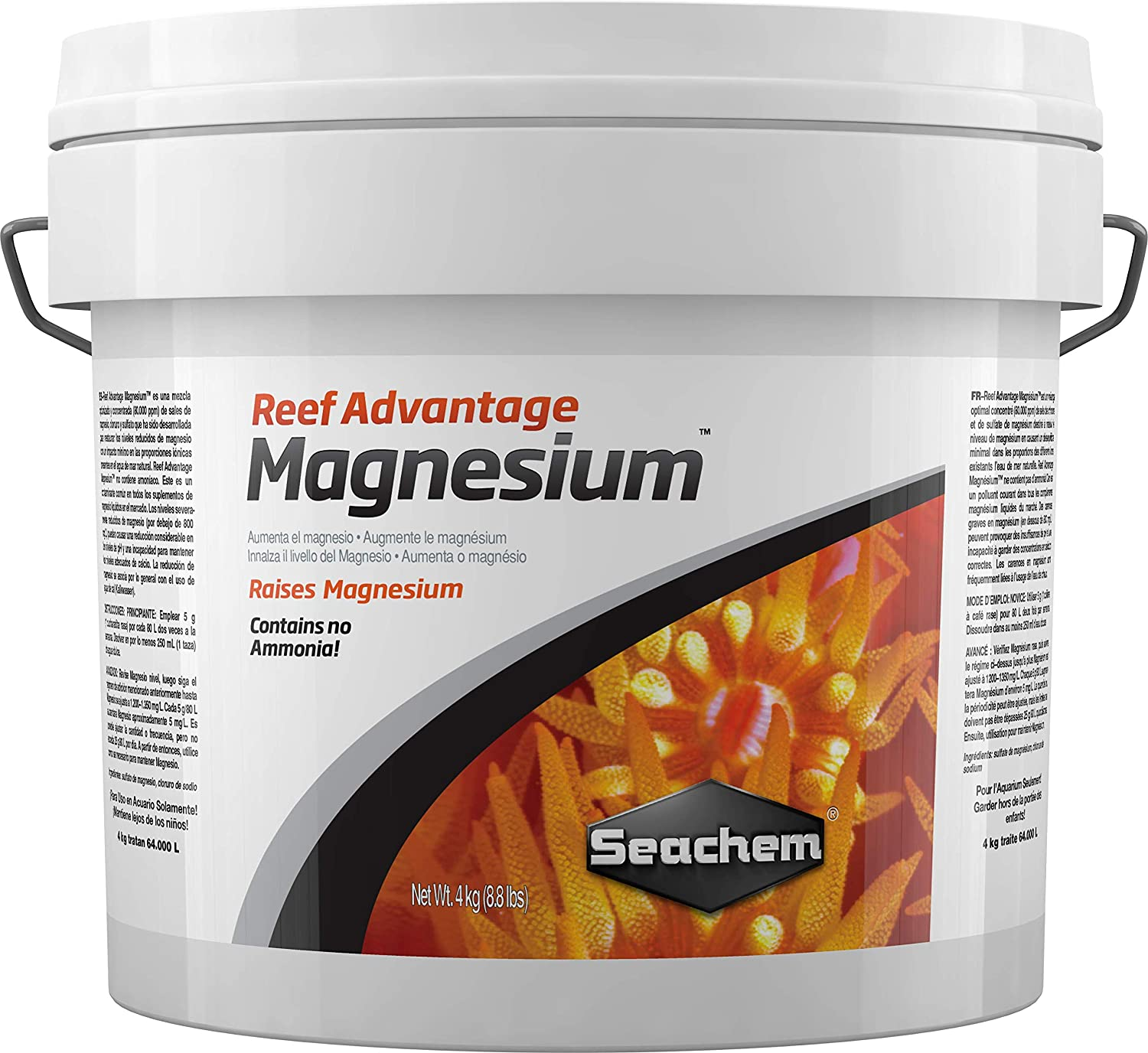 Amazon.com : Reef Advantage Magnesium, 4 kg / 8.8 lbs : Aquarium Treatments : Pet Supplies