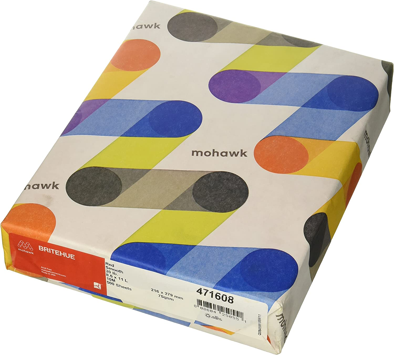 50 Sheets Per Pack Red Mohawk Britehue Bright Color Card Stock Paper 11x 17,