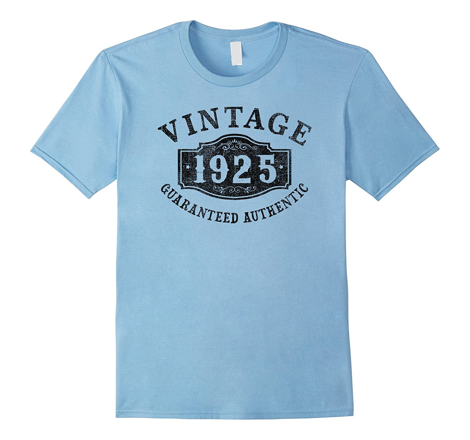 92 years old 1925 Authentic 92nd B-day Birthday Gift T-Shirt-PL