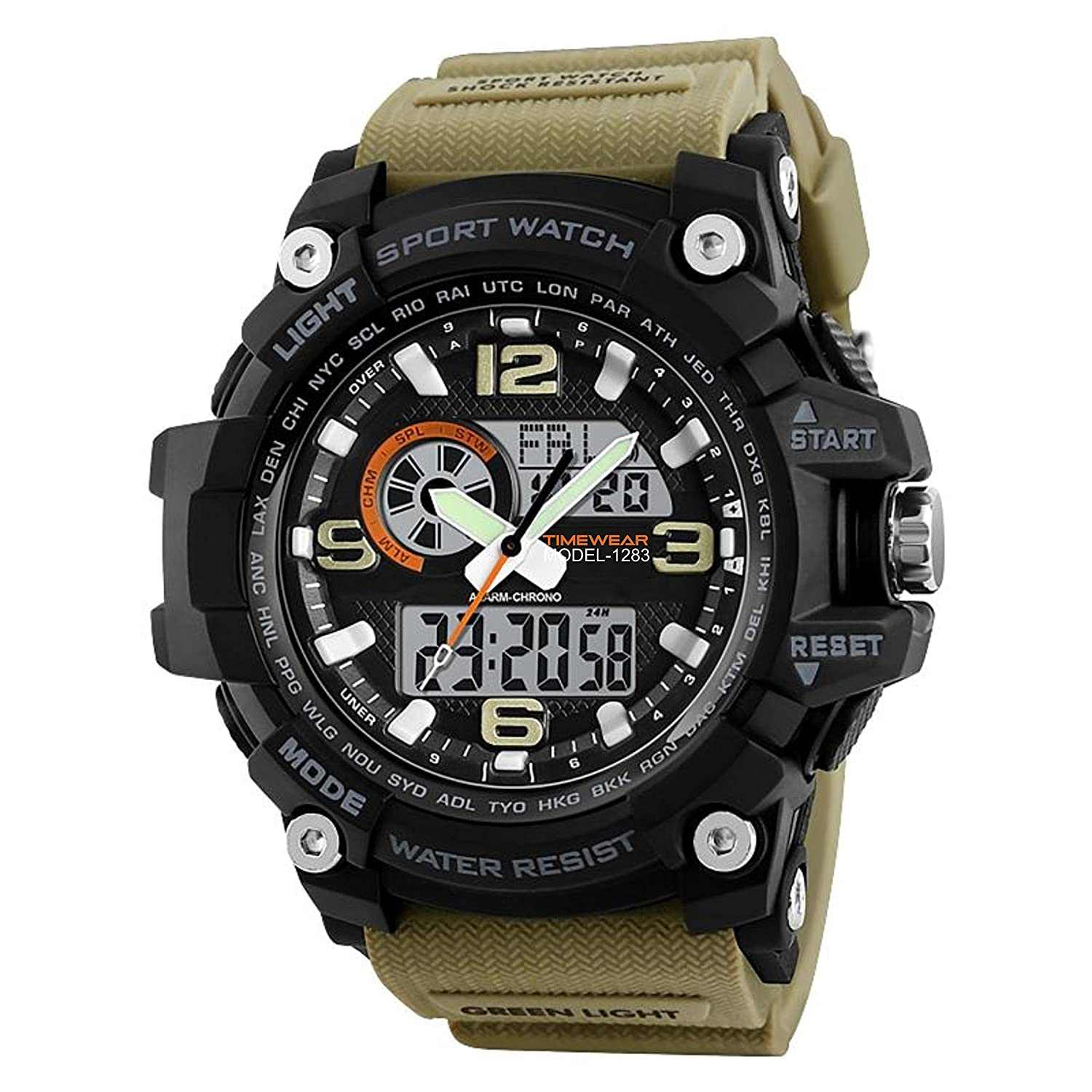 Timewear Military Series Analogue Digital Black Dial Watch For Men & Boys