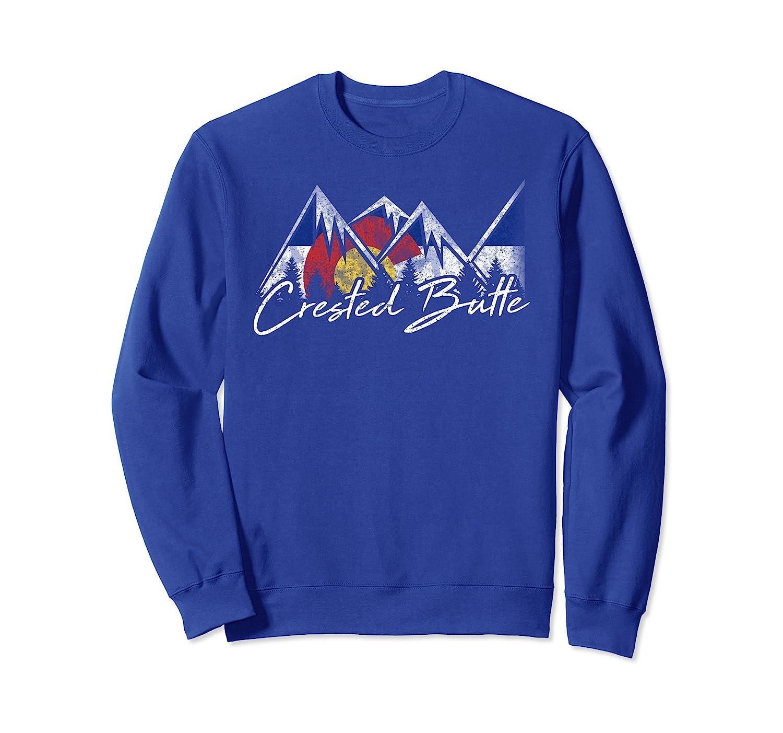 Crested Butte Colorado Flag Mountains Shirt Cool Souvenir Gi-fa