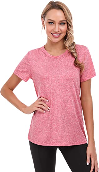 iClosam Camiseta Yoga Mujer Verano C/ómodo y Secado r/ápido para Fitness y Deportes
