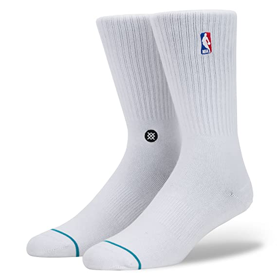 Calcetines Stance - Nba Logoman Crew Everyday Light Cushion blanco: Amazon.es: Ropa y accesorios