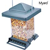 Myard ROCKET Double Sided Squirrel Resistant / Proof Large Capacity Tube Bird Feeder # MBF 75160 (Green)