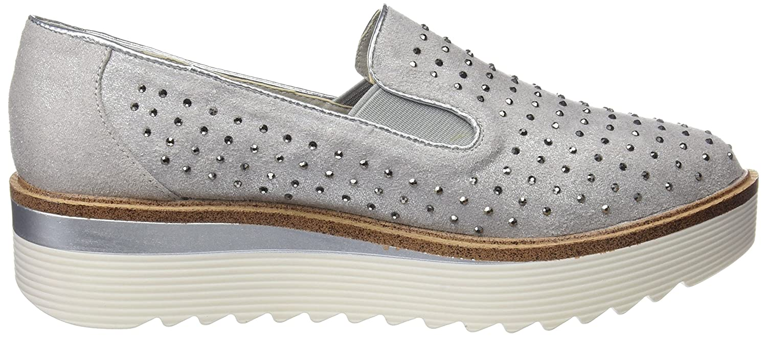 XTI Damen 47772 Slip on Sneaker, Grau (Grey), 41 EU