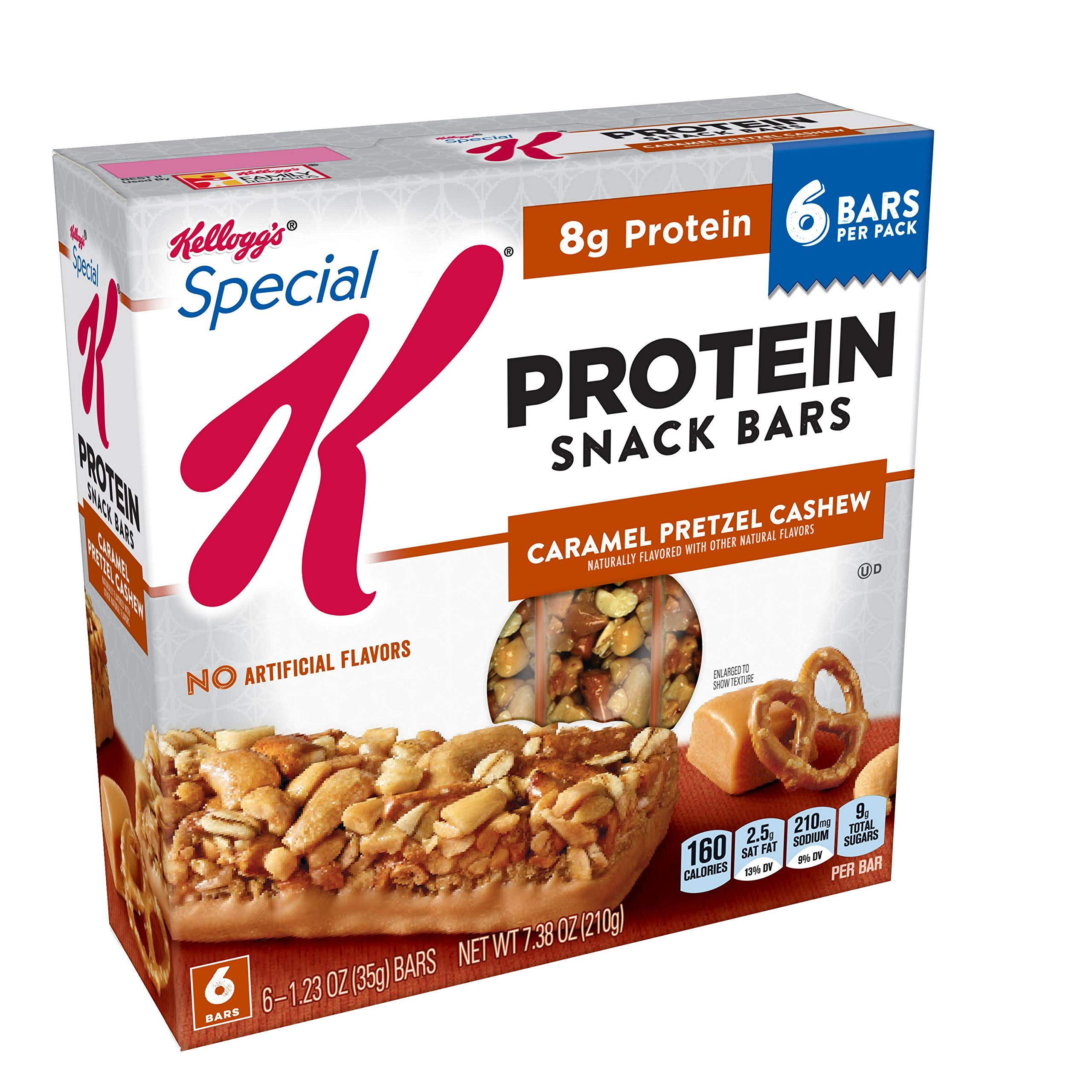 Special K Protein Snack Bars, Caramel Pretzel Cashew, 7.38 oz (6 Count)(Pack of 8) by Special K