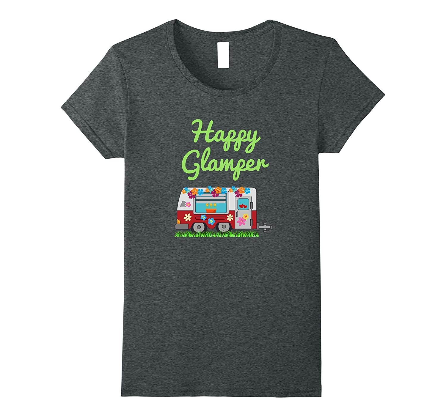 Awesome Happy Glamper T Shirt, Happy Camper Shirt for Women