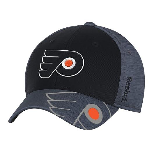 best sneakers 7dff6 aad70 Reebok NHL Philadelphia Flyers Men s Playoff Team Cap, Black,Small Medium