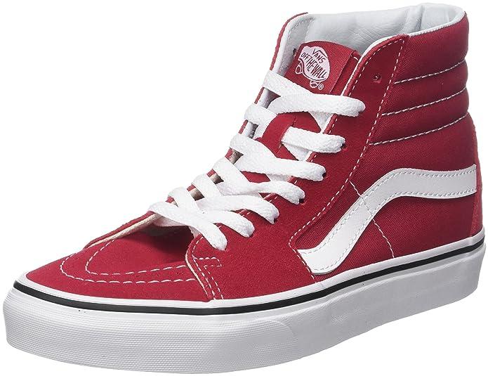 Vans Sk8-hi Schuhe Unisex-Erwachsene Leder u. Textil rot (Crimson)