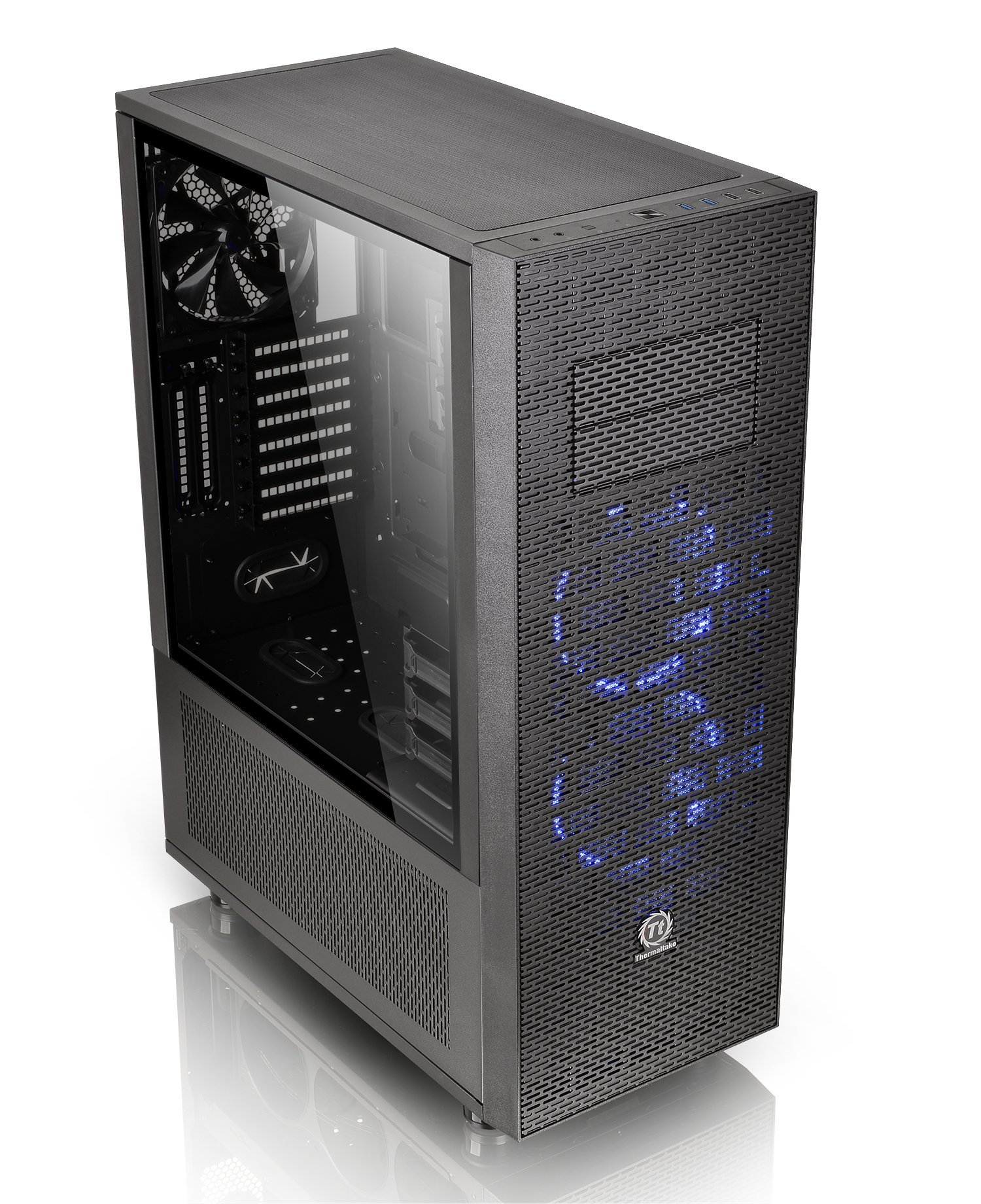 Thermaltake Core X71 Tempered Glass Edition SPCC ATX Full Tower Tt LCS Certified Gaming Computer Case CA-1F8-00M1WN-02