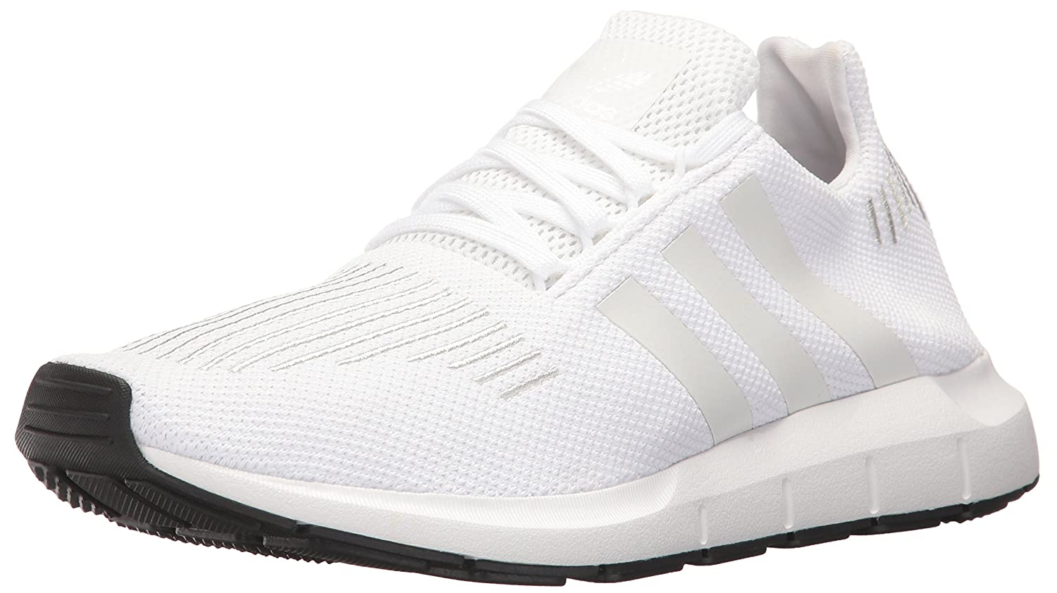 check out 09227 f3649 Amazon.com   adidas Originals Men s Swift Run Shoes, WHITE CRYSTAL WHITE  BLACK, 8.5 M US   Running