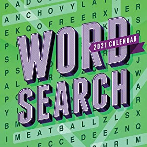 "2021 Word Search 5.5""x 5.5"" Daily Desktop Calendar"