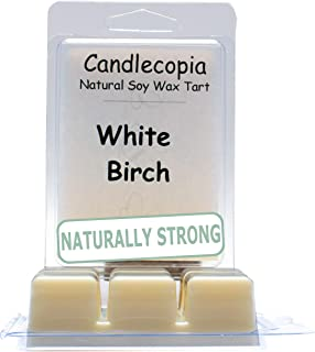 product image for Candlecopia White Birch Strongly Scented Hand Poured Vegan Wax Melts, 12 Scented Wax Cubes, 6.4 Ounces in 2 x 6-Packs