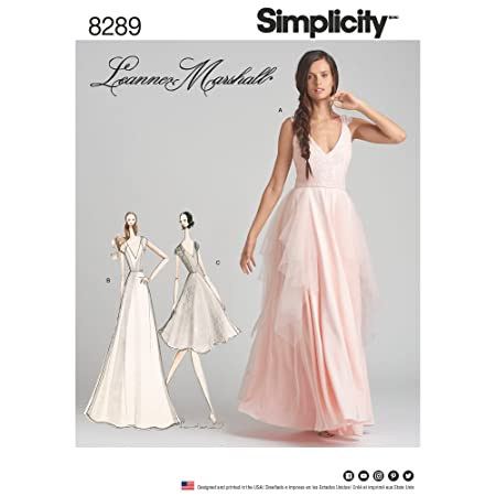 Simplicity Pattern 8289 D5 Paper 22 x 15 x 1 cm Misses Special Occasion Dresses 4-6-8-10-12 White