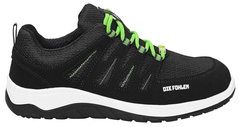 Noir ELTE BMG THREE LOW ESD S3 Chaussures de s/écurit/é pour homme et femme Sneaker 35 1 sportif noir Chaussures de s/écurit/é officielles de Borussia M/önchengladbach capuchon en acier l/éger