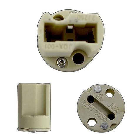 PB-Versand - Portalámparas cerámico para bombillas LED G9 (con casquillo halógeno, 220