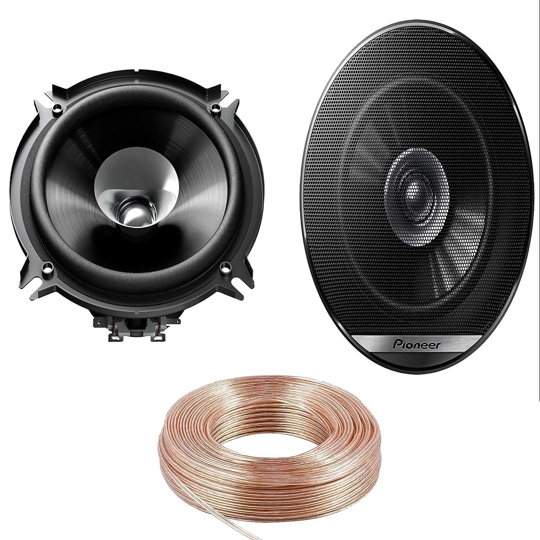 Wheels N Bits 5 Metre OFC Speaker Cable + Pioneer TS-G1310F Speakers 13cm 130mm 5.25' inch Dual Cone Car Door Shelf Speakers 230 Watt Each 460 Watt A Pair Van Bus Truck Caravan