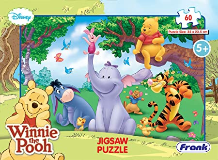 Frank Disney Winnie the Pooh 60 Pc Jigsaw Puzzle for 5 Year Old Kids and Above