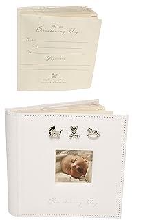 Bambino CG157 Baby Christening Album, Linen Optikos Design