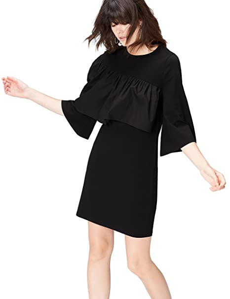 FIND Vestido de Fiesta para Mujer , Negro (Negro), 36 (Talla del
